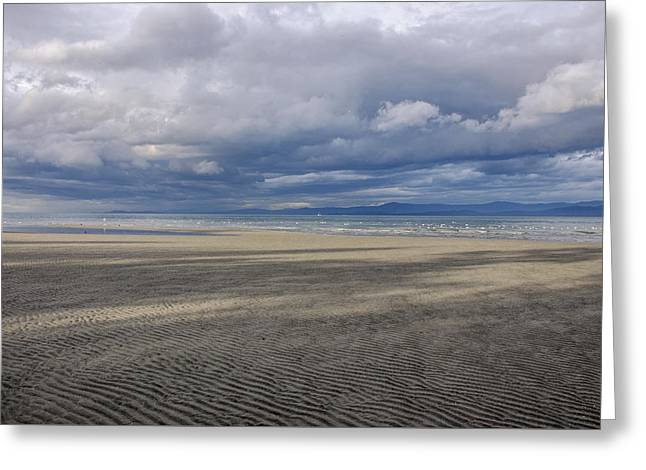 Low Tide Sandscape Greeting Card by Roxy Hurtubise