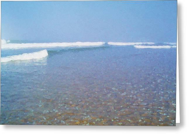 Low Tide Greeting Card by David Klaboe