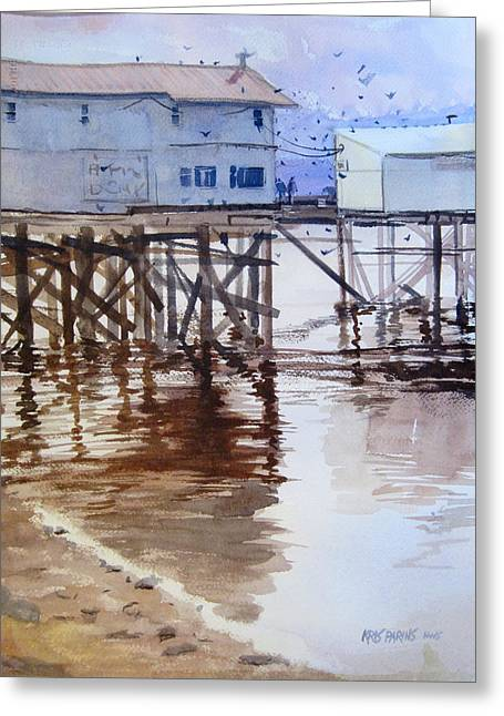Low Tide Greeting Card by Kris Parins