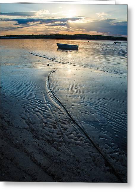 Low Tide Parking Greeting Card by Kristopher Schoenleber