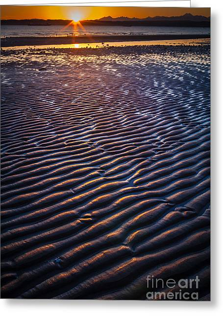 Low Tide Ripples Greeting Card by Inge Johnsson