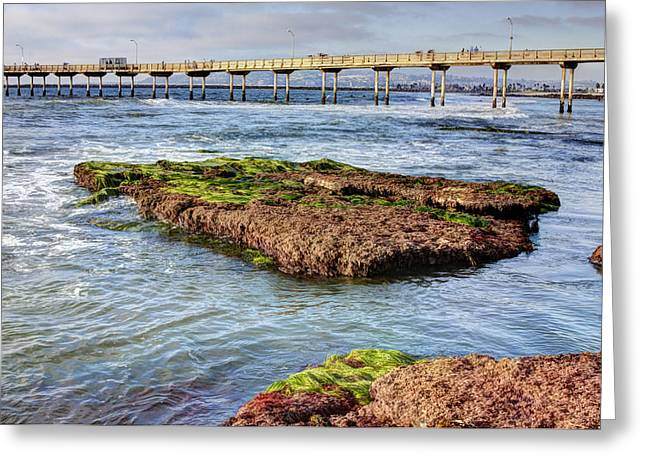 Low Tide Greeting Card by Photographic Art by Russel Ray Photos