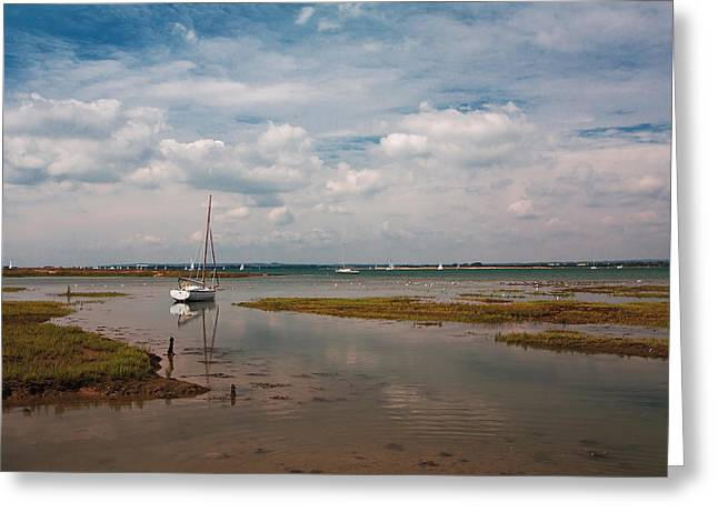 Low Tide Greeting Card by Shirley Mitchell