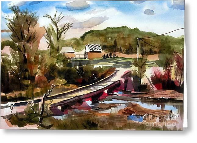 Low Water Bridge II Greeting Card