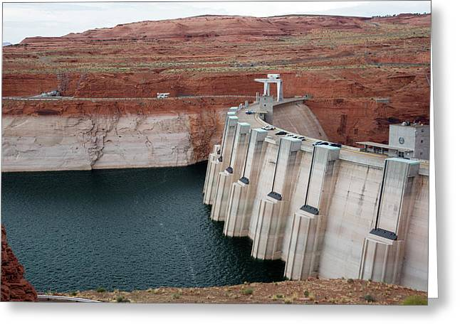 Low Water Levels In Lake Powell Greeting Card by Jim West