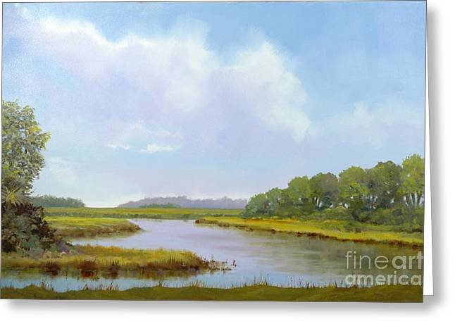 Lowcountry Afternoon Greeting Card by Glenn Secrest