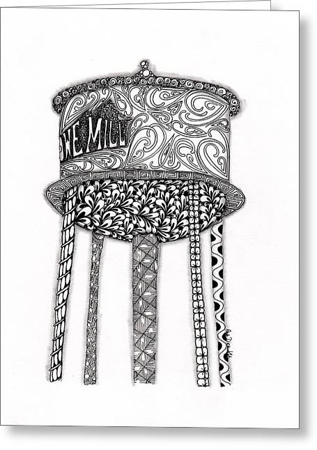 Lowe Mill Water Tower Greeting Card