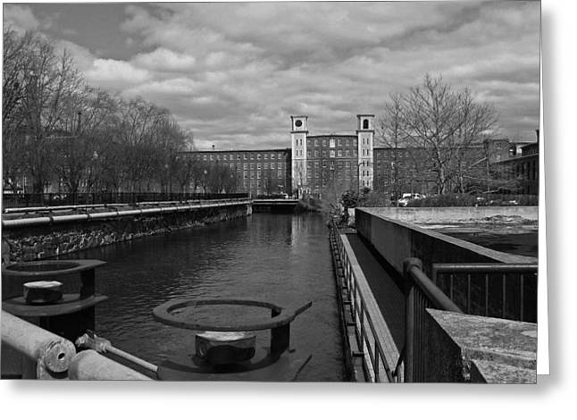 Lowell Ma Architecture Bw Greeting Card