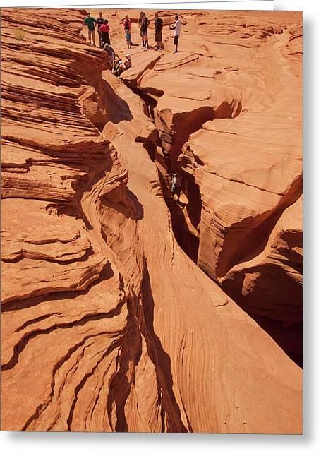 Lower Antelope Slot Canyon Greeting Card