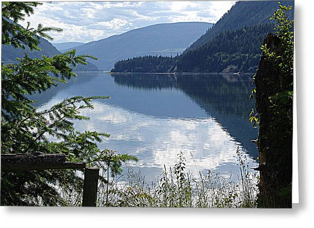 Lower Arrow Lake Greeting Card by Janet Ashworth