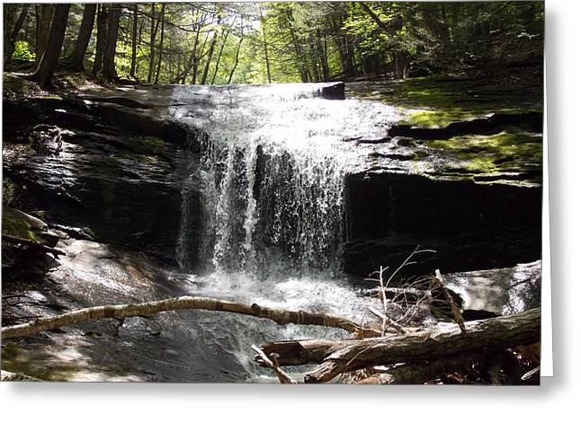 Lower Chapel Brook Falls Greeting Card