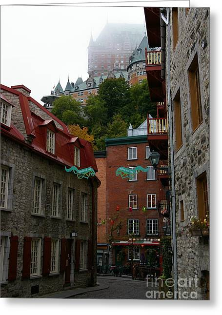 Lower City Quebec Greeting Card