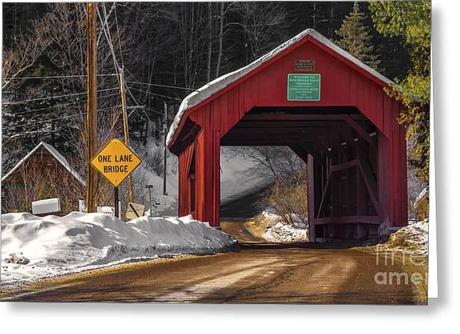 Lower Covered Bridge. Greeting Card