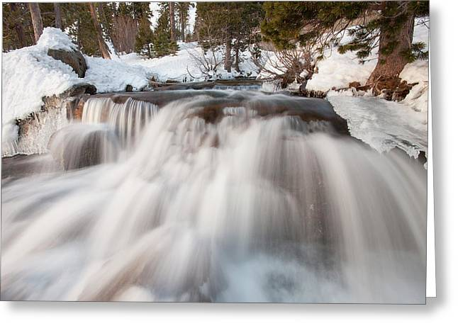 Lower Eagle Falls Above Emerald Bay Greeting Card by Tom Norring