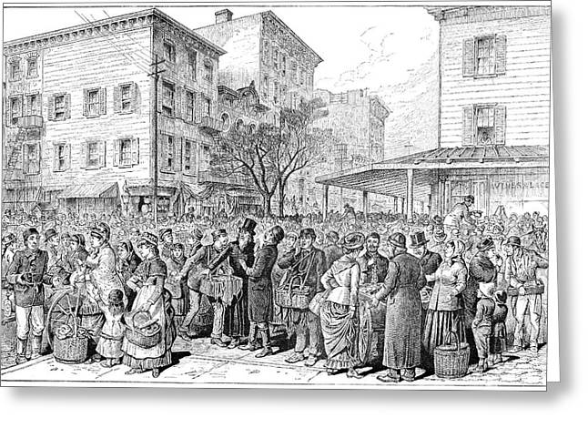 Lower East Side, 1884 Greeting Card by Granger