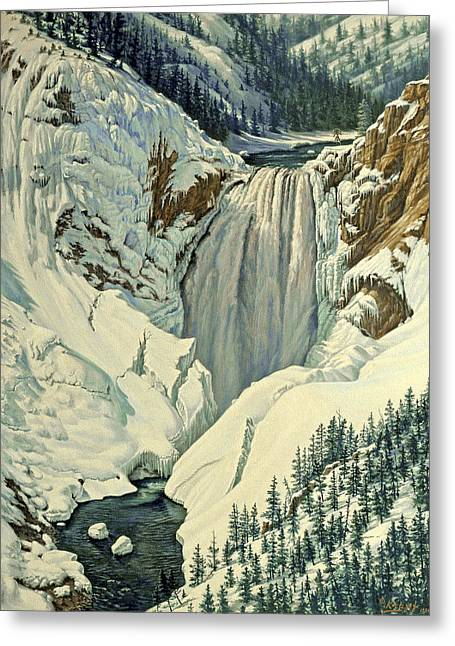 Lower Falls-april Greeting Card by Paul Krapf