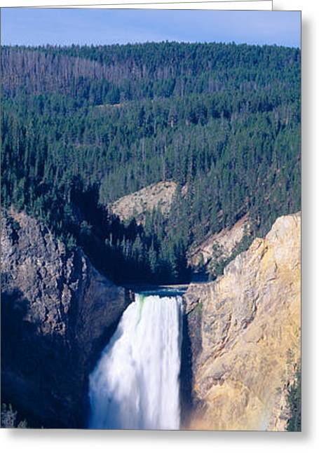 Lower Falls At Grand Canyon Greeting Card by Panoramic Images