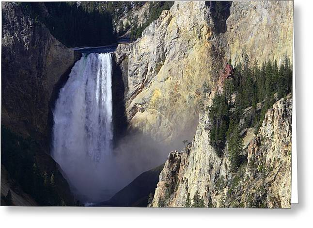 Greeting Card featuring the photograph Lower Falls by David Andersen