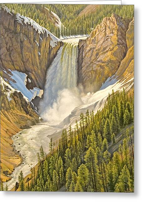 Lower Falls-may   Greeting Card