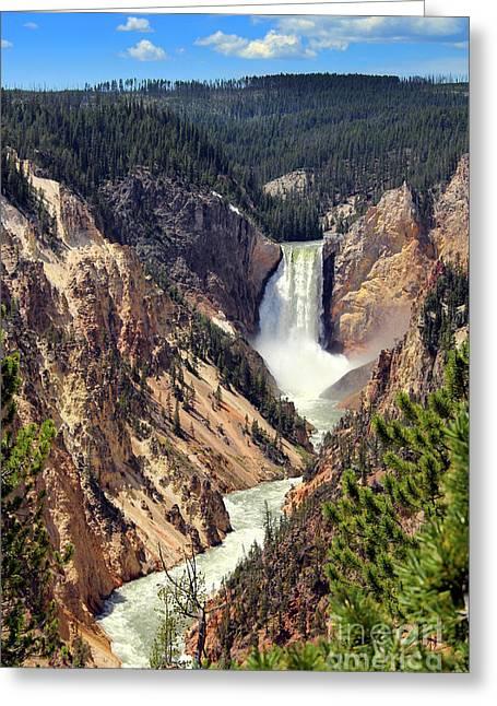 Lower Falls Of Yellowstone Greeting Card