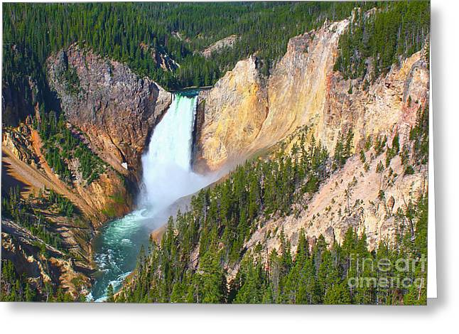 Lower Falls Yellowstone 2 Greeting Card by Teresa Zieba
