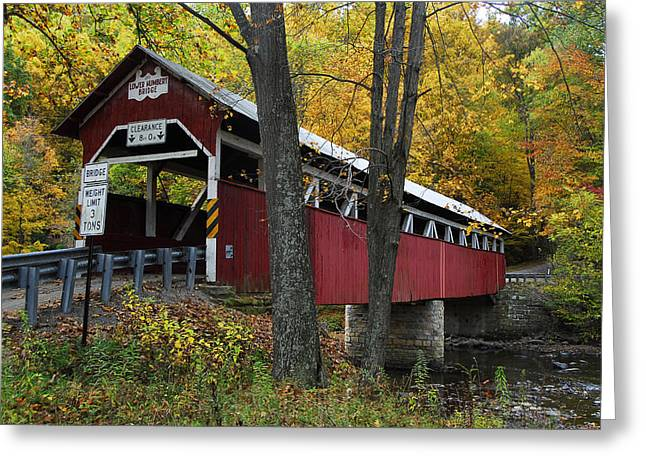 Lower Humbert Covered Bridge Greeting Card by Dan Myers