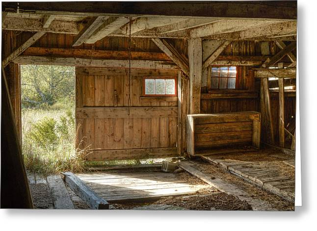 Lower Level Of The Barn Greeting Card