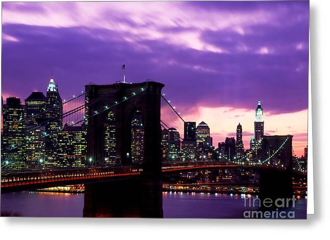 Lower Manhattan 2002 Skyline Greeting Card by Rafael Macia