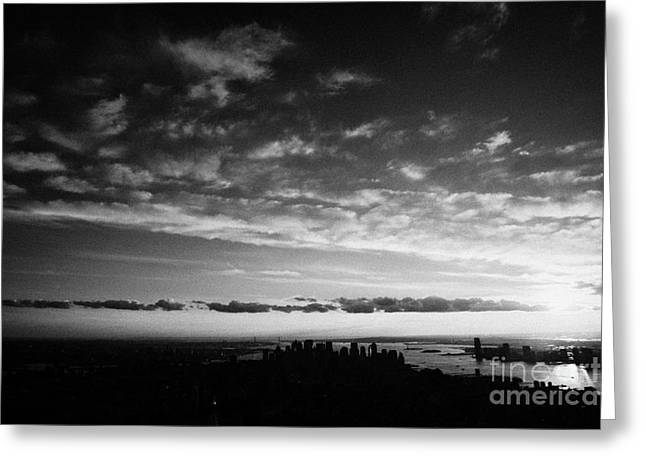 Lower Manhattan And Hudson River Skyline New York City Greeting Card