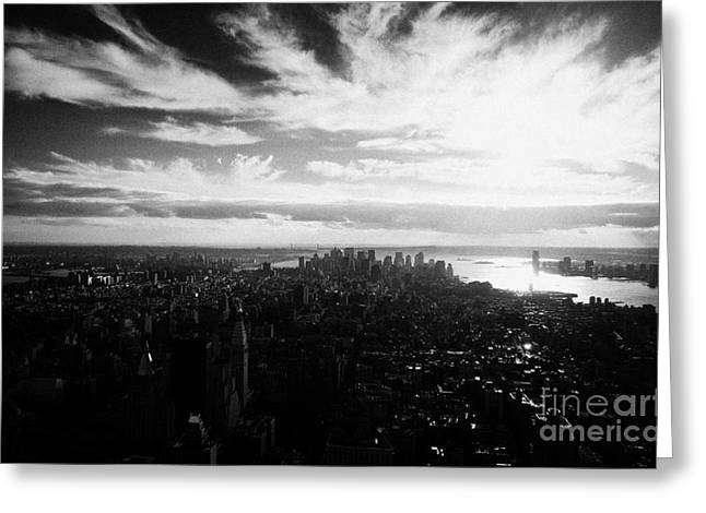 Lower Manhattan New York City Usa Greeting Card by Joe Fox
