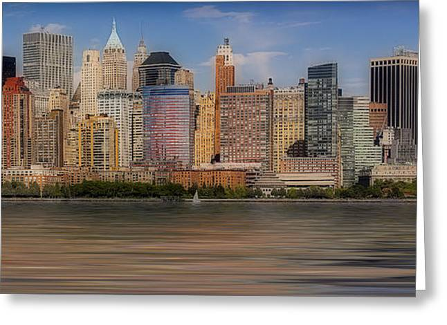Lower Manhattan Greeting Card by Susan Candelario