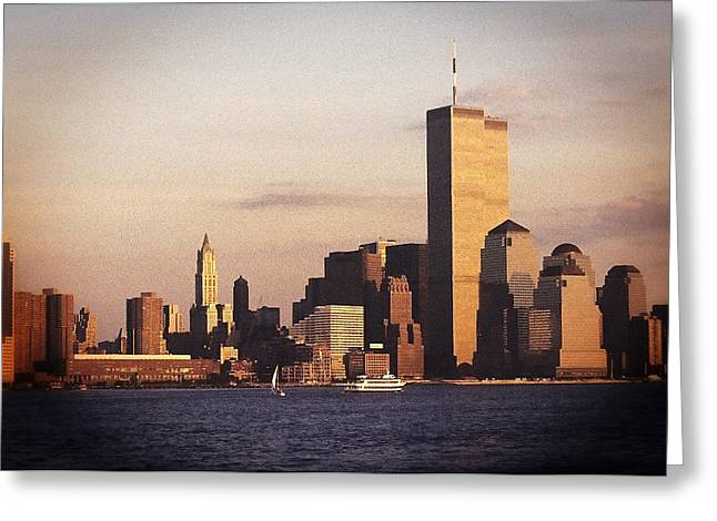 Lower Manhattan World Trade Center Greeting Card