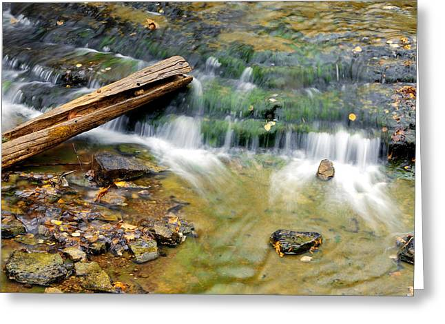 Lower Part Of Au Train Falls Greeting Card by Optical Playground By MP Ray