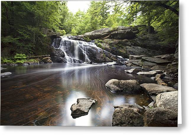 Lower Purgatory Falls Greeting Card by Eric Gendron