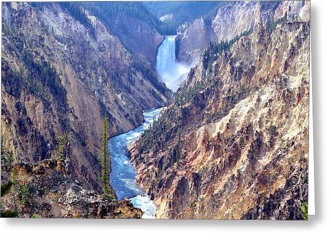 Lower Yellowstone Falls Greeting Card