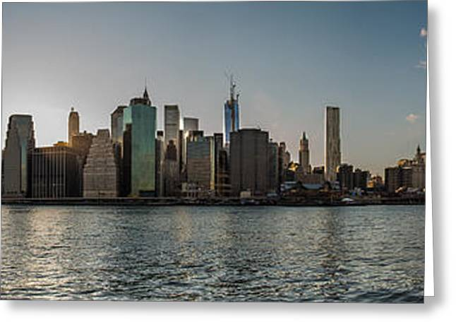Lowerr Manhattan Panoramic Greeting Card