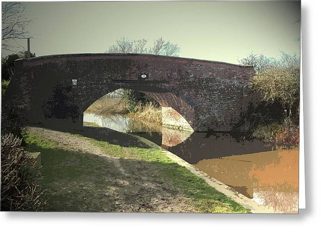 Lowes Bridge On The Trent And Mersey, Bridge Number 15 Greeting Card by Litz Collection