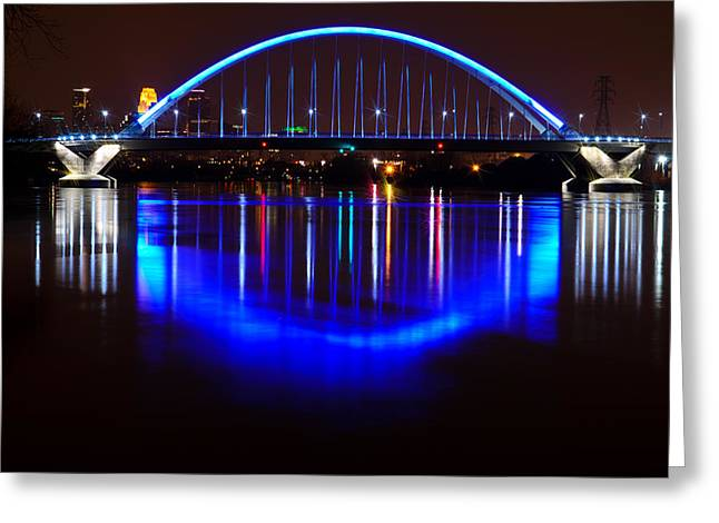 Greeting Card featuring the photograph Lowry Bridge by RC Pics