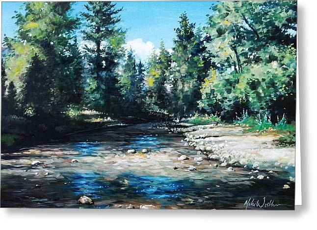Lowry Creek Run Greeting Card by Mike Worthen