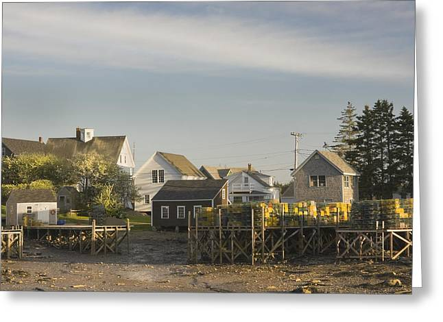 Lowtide In Port Clyde Maine Greeting Card by Keith Webber Jr