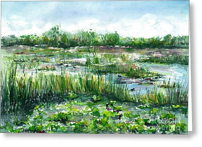 Loxahatchee Marsh Greeting Card