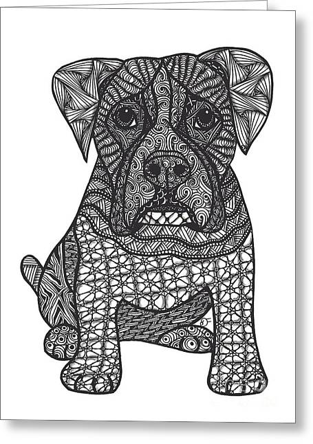 Loyalty- Boxer Dog Greeting Card by Dianne Ferrer