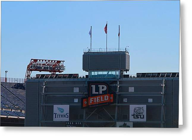 Lp Field Nashville Tennessee Greeting Card by Dan Sproul