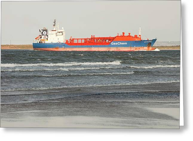 Lpg Tanker Greeting Card by Ashley Cooper