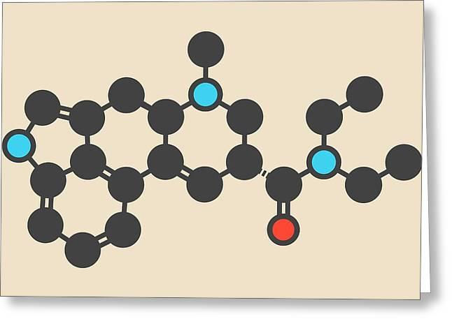 Lsd Lysergic Acid Diethylamide Molecule Greeting Card by Molekuul