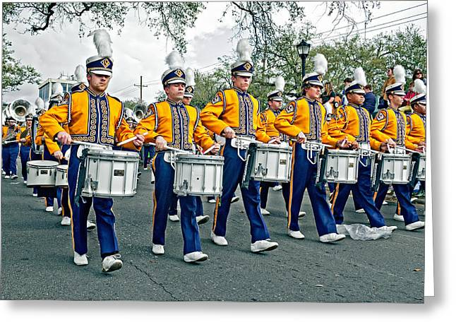 Lsu Marching Band Greeting Card by Steve Harrington