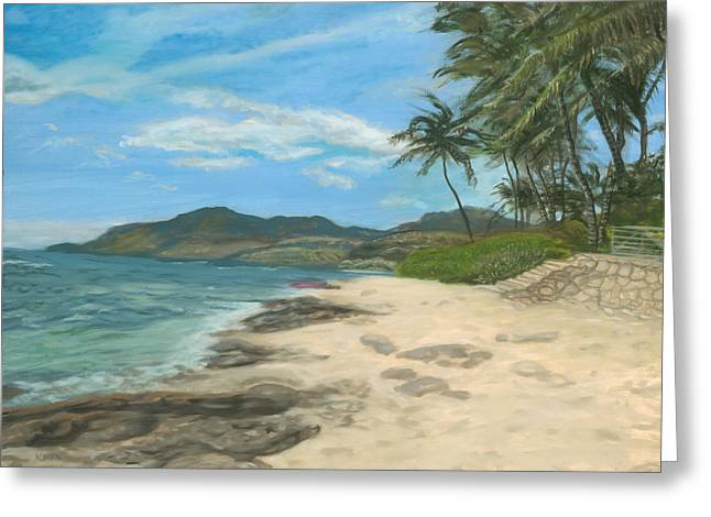 Lualualei Beach Greeting Card