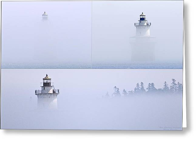 Lubec Channel Lighthouse Greeting Card by Marty Saccone