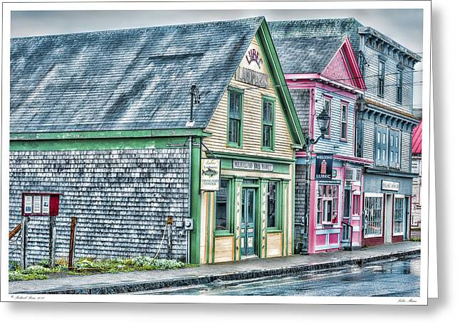 Lubec Maine Greeting Card by Richard Bean