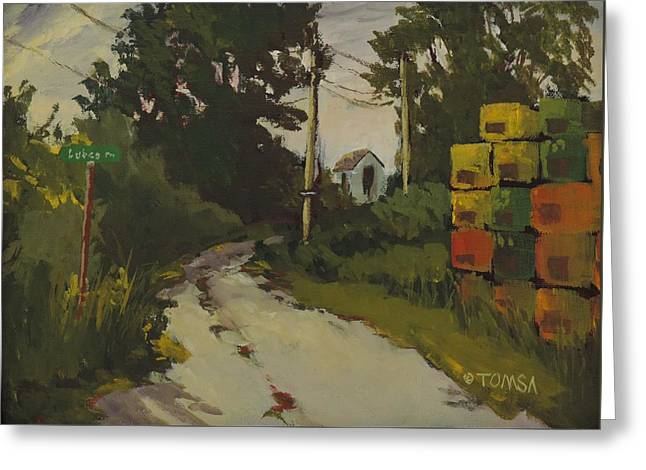 Lubee Lane Greeting Card by Bill Tomsa